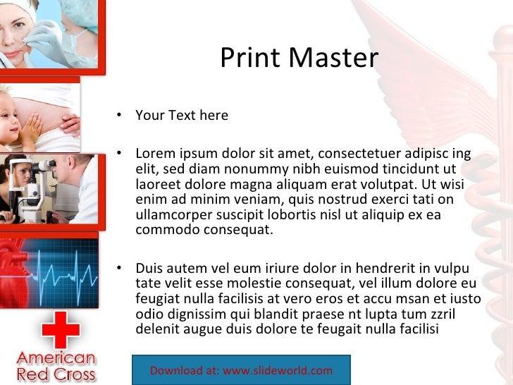 American red cross powerpoint template toneelgroepblik Image collections