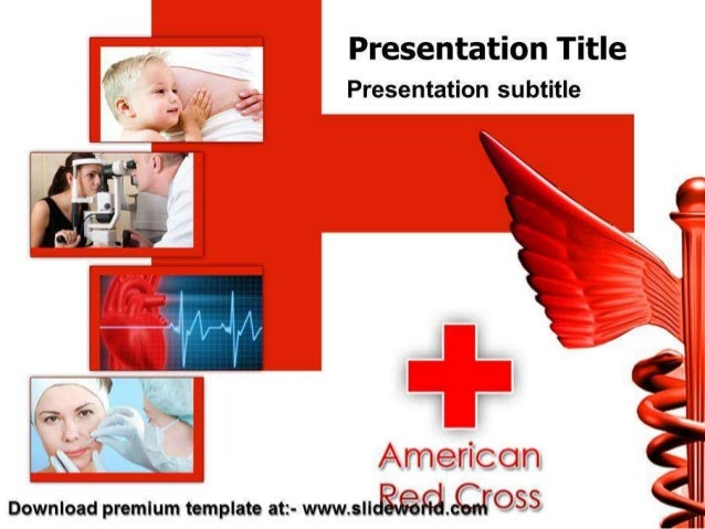 American Red Cross Powerpoint Template