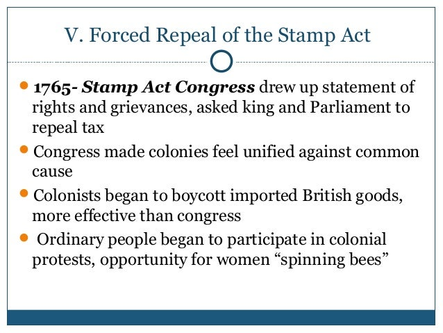 Consider Political Independence 29 V Forced Repeal Of The Stamp Act