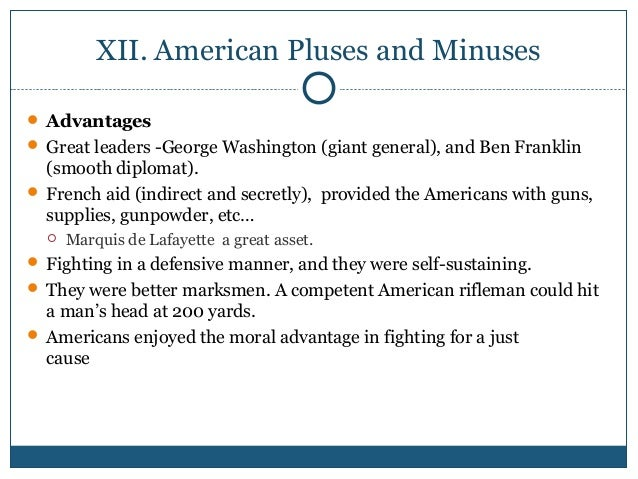 11a. American and British Strengths and Weaknesses