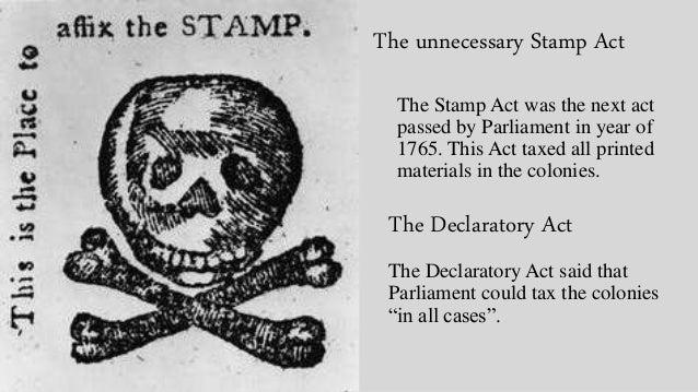Declaratory Act American revolution