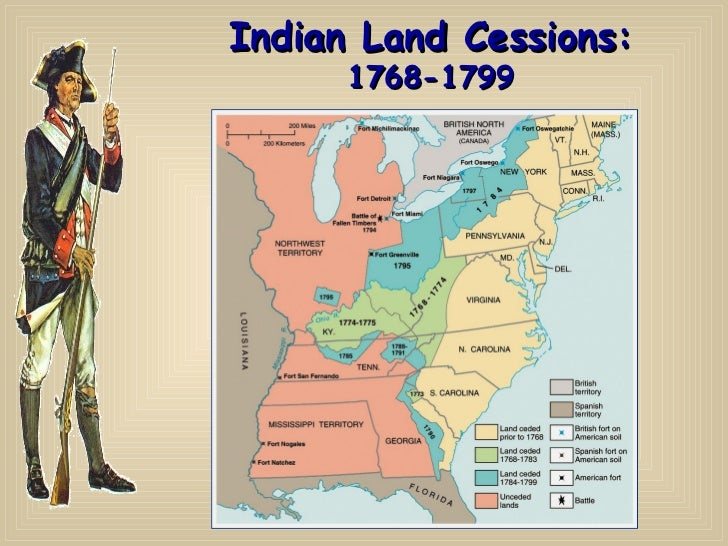 indian land cessions 1768 1799