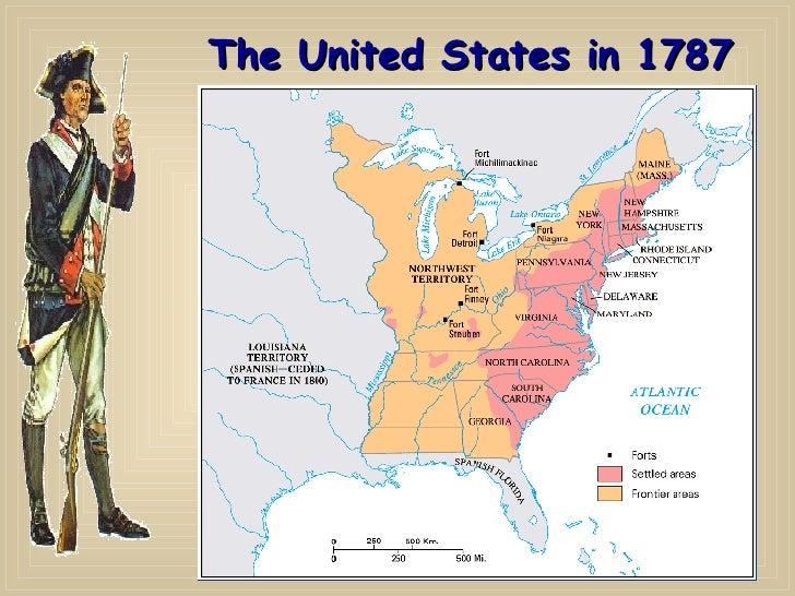 US History Articles Of Confederation Map 1787 Storyline Original