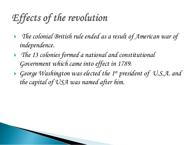 the changes that came with the american revolution and its impact on england Of america the revolution was achieved in large part by the american revolutionary war (1775-1783), which was fought between england against america and its allies social and ideological effects of the american revolution independence, the american revolution represented fundamental social change in.