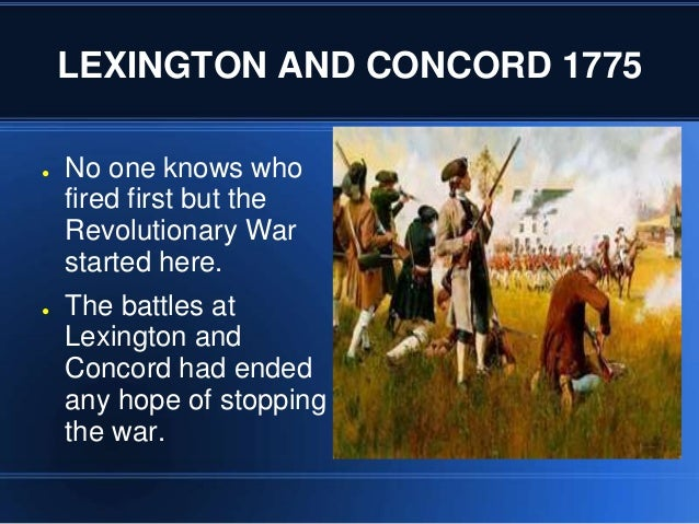 essay on who fired first at lexington and concord Lexington and concord essay who fired first at lexington and concord in my opinion, it was the british all major affidavits point in their direction.