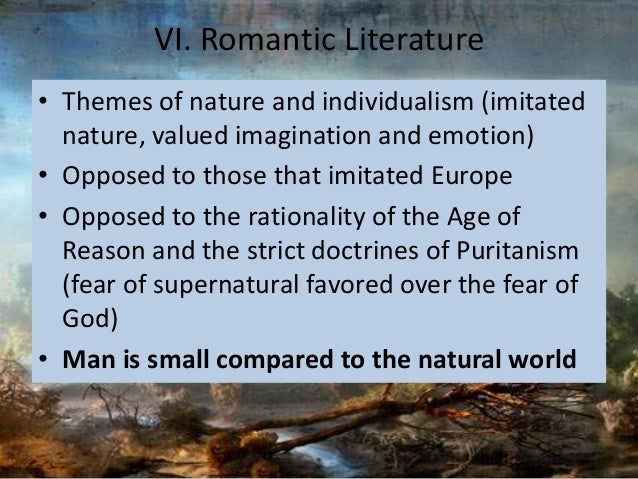 romanticism v puritanism Start studying romanticism vs puritanism learn vocabulary, terms, and more with flashcards, games, and other study tools.