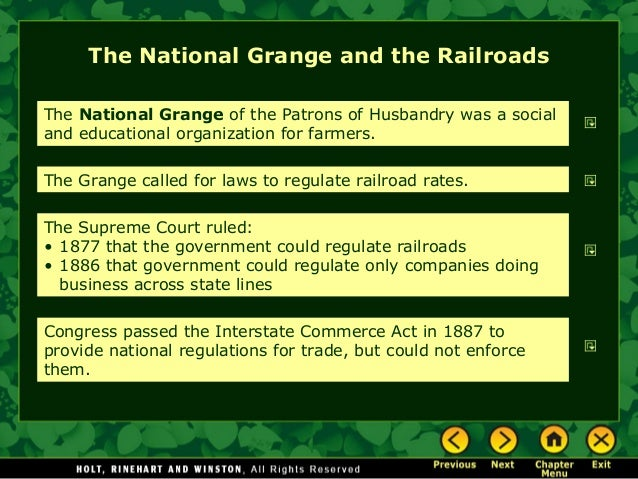 Americans move west - National grange of the patrons of husbandry ...