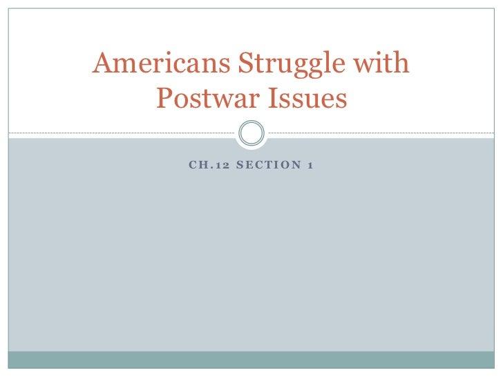 americans struggle with postwar issues rh slideshare net chapter 27 section 1 postwar america guided reading chapter 27 section 1 postwar america guided reading