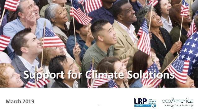 1 March 2019 Support for Climate Solutions