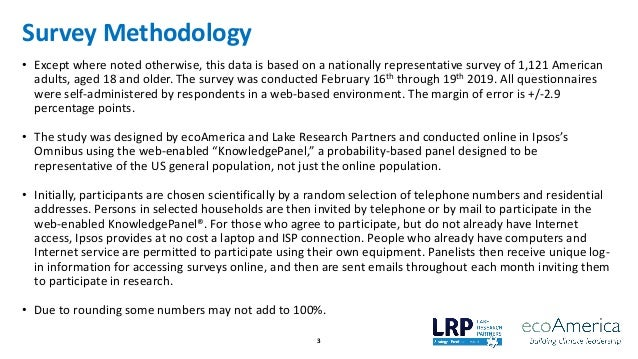 American Support for Climate Solutions - ecoAmerica & Lake Research Partners, March 2019 Slide 3