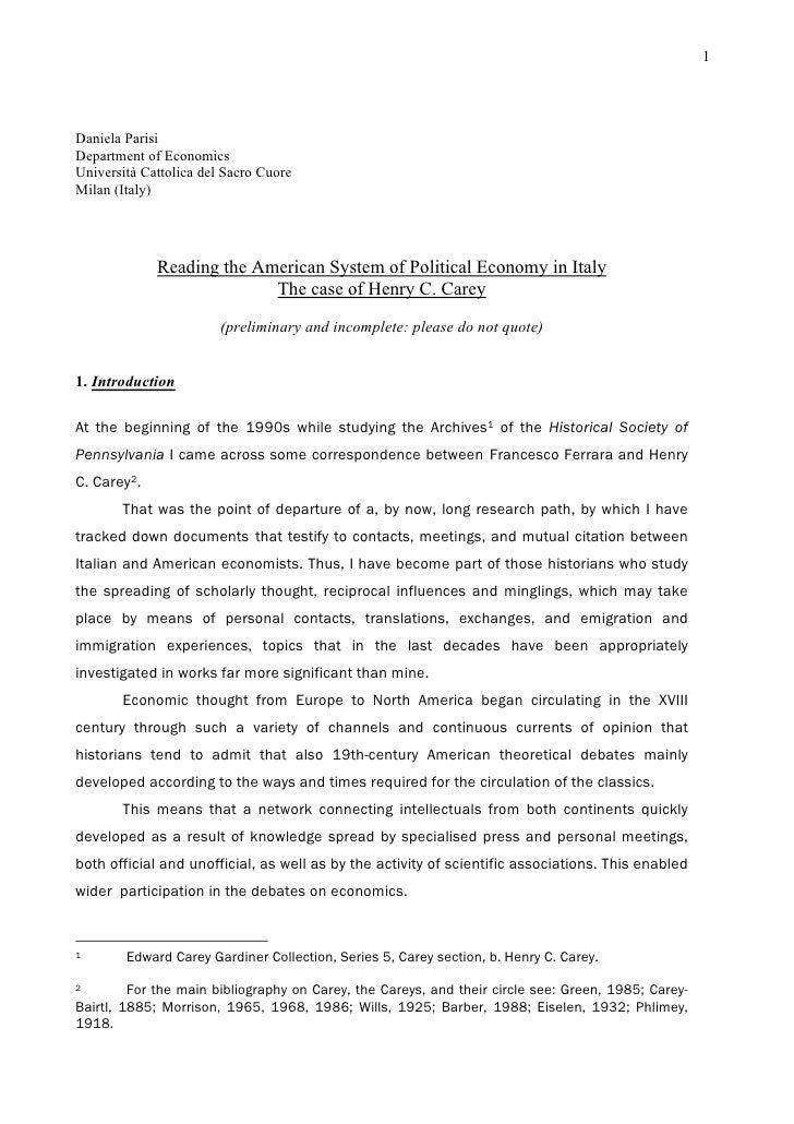 1     Daniela Parisi Department of Economics Università Cattolica del Sacro Cuore Milan (Italy)                  Reading t...