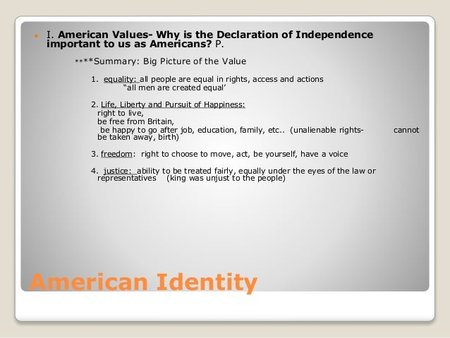 how is an american identity created