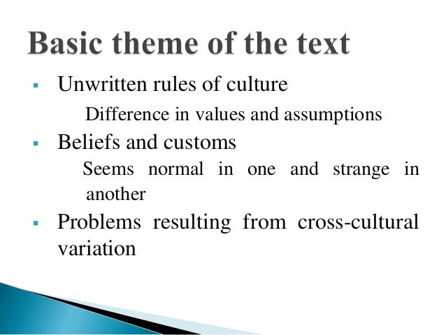 American values and assumptions essay