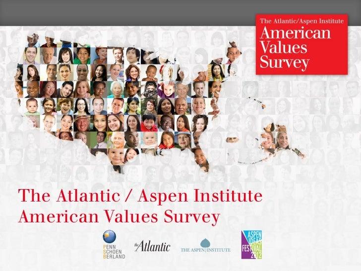 The Atlantic / Aspen Institute    American Values Survey1