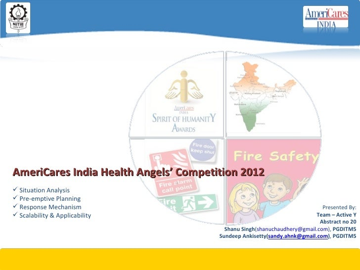 AmeriCares India Health Angels' Competition 2012 Situation Analysis Pre-emptive Planning Response Mechanism            ...