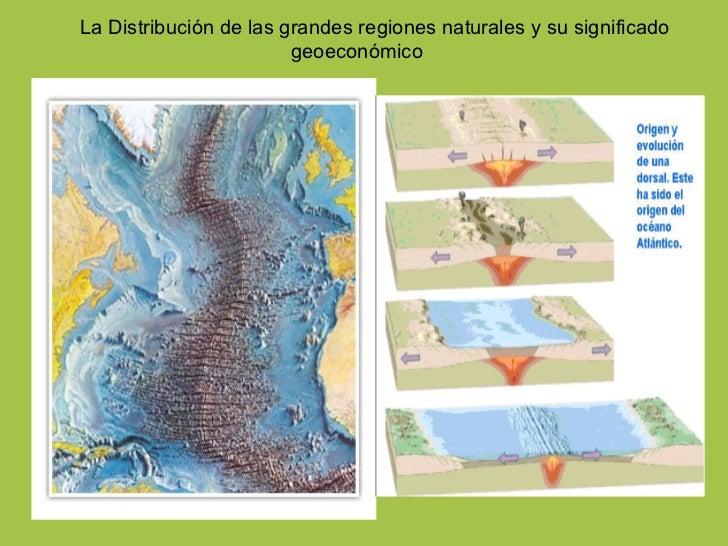 La Distribución de las grandes regiones naturales y su significado geoeconómico