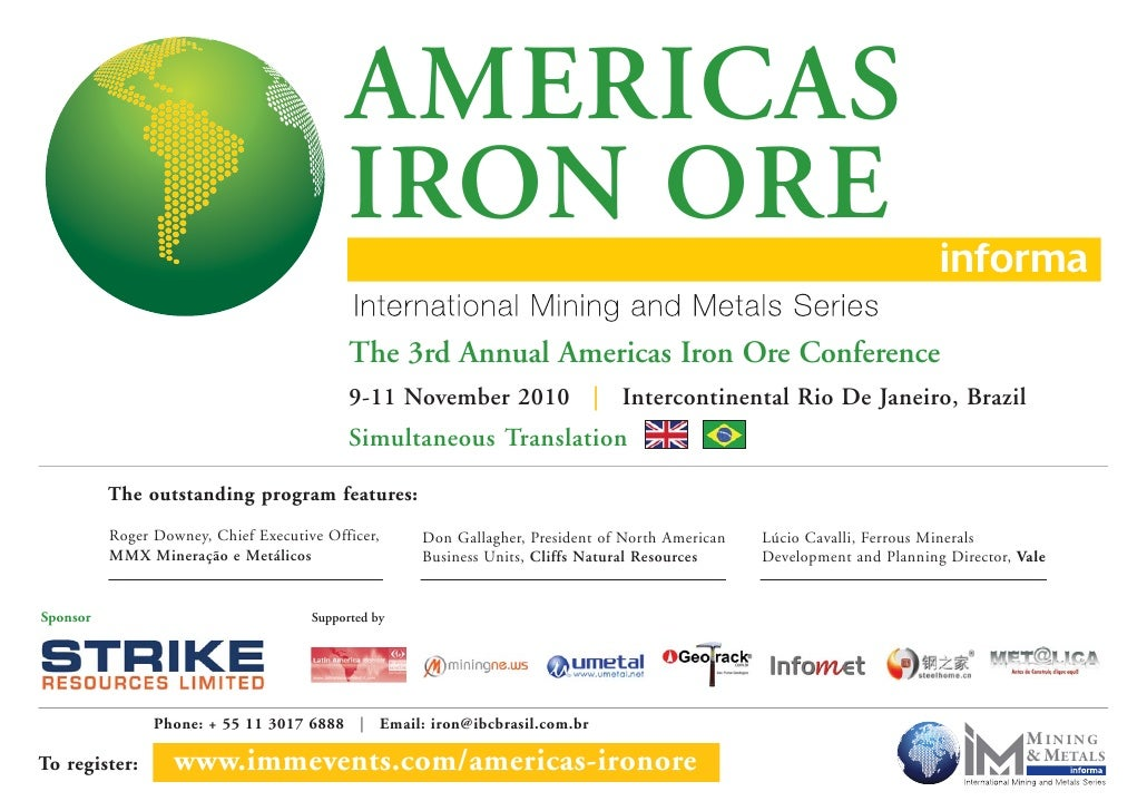 AMERICAS                                            IRON ORE                                             The 3rd Annual Am...