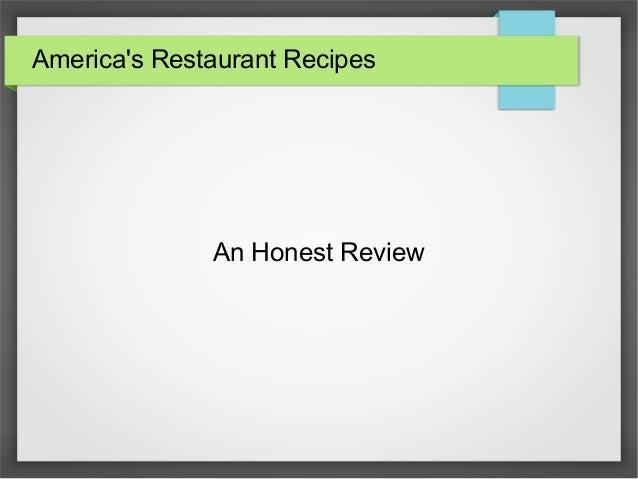 America's Restaurant Recipes An Honest Review