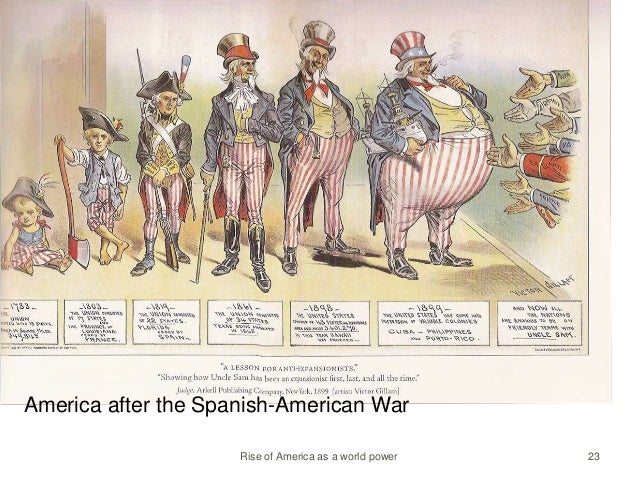 an analysis of a report on the spanish american war After the war after the spanish american war, america was a world power we held territories in puerto rico, the philippines and guam.