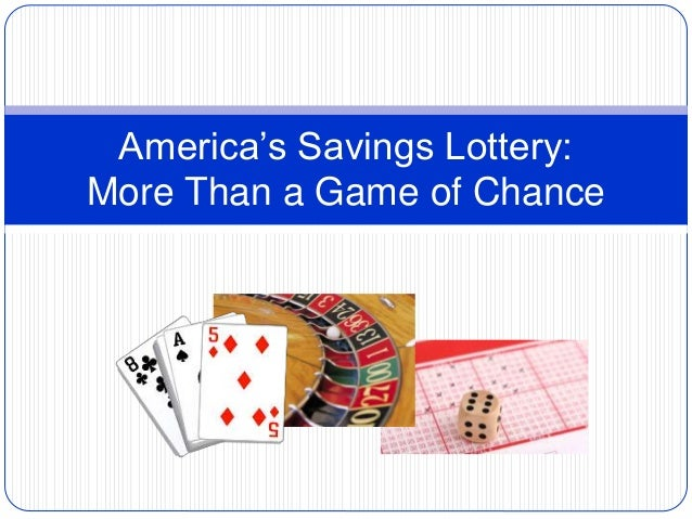 America's Savings Lottery: More Than a Game of Chance