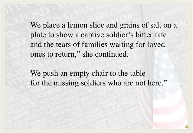 image regarding Missing Man Table Poem Printable identify Americas white desk