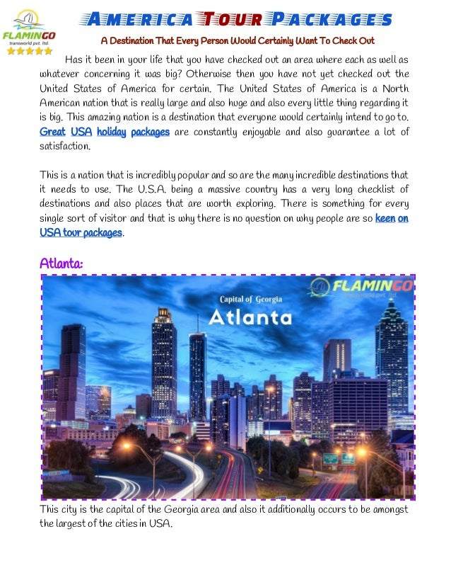 America Tour Packages A Destination That Every Person Would Certainly Want To Check Out Has it been in your life that ...