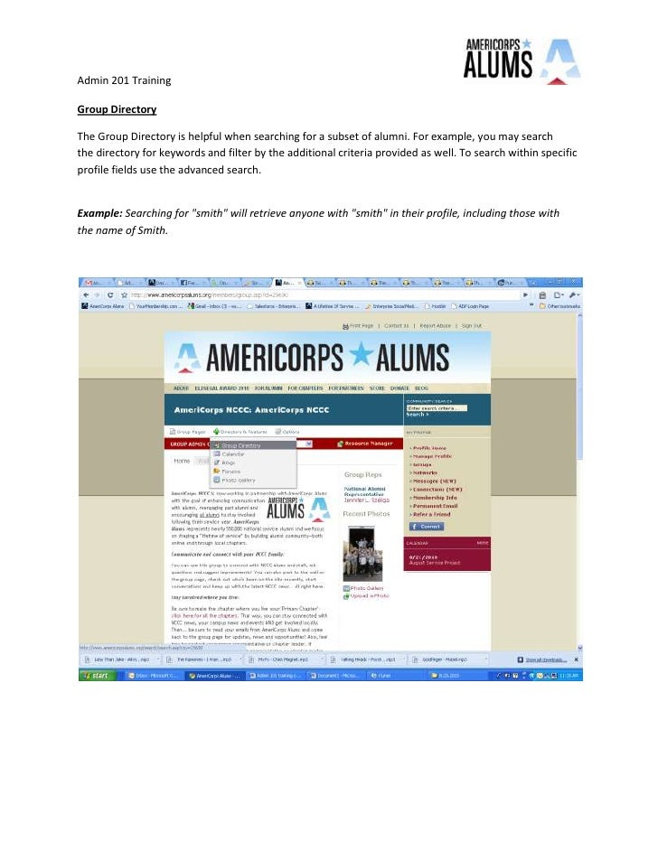 Group Directory<br />The Group Directory is helpful when searching for a subset of alumni. For example, you may search the...