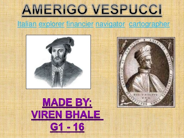 italian explorer vespucci