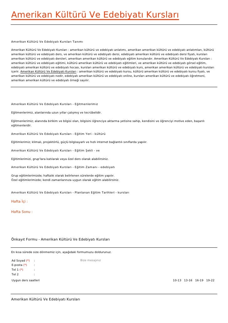 Amerikan Kültürü Ve Edebiyatı KurslarıAmerikan Kültürü Ve Edebiyatı Kursları TanımıAmerikan Kültürü Ve Edebiyatı Kursları ...