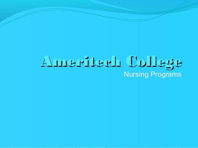 Ameritech College          Nursing Programs