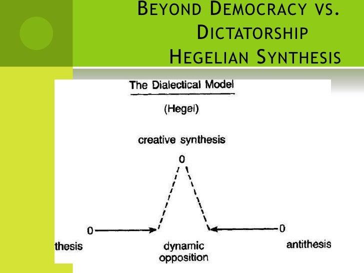 Beyond Democracy Vs Dictatorship Hegelian Synthesis