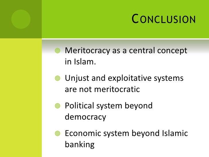 9 Conclusion Meritocracy As A