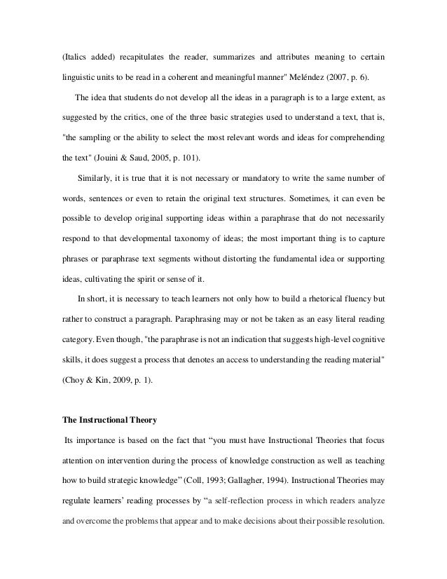 A Metacognitive Based Instructional Theory Proposal Into A Writing Pr