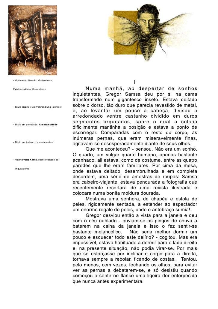 - Movimento literário: Modernismo,                                                                          IExistencialis...