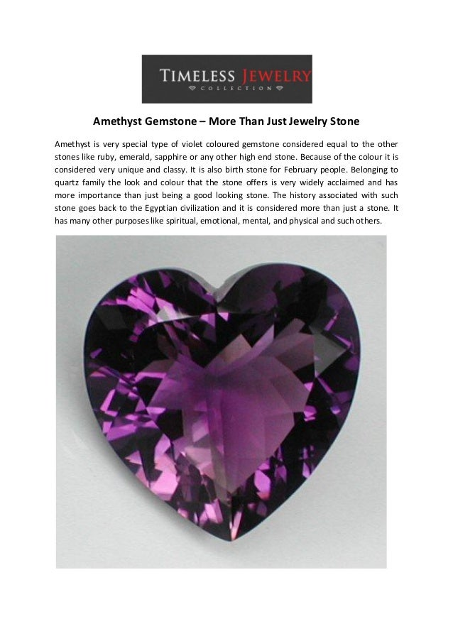 Amethyst Gemstone – More Than Just Jewelry Stone