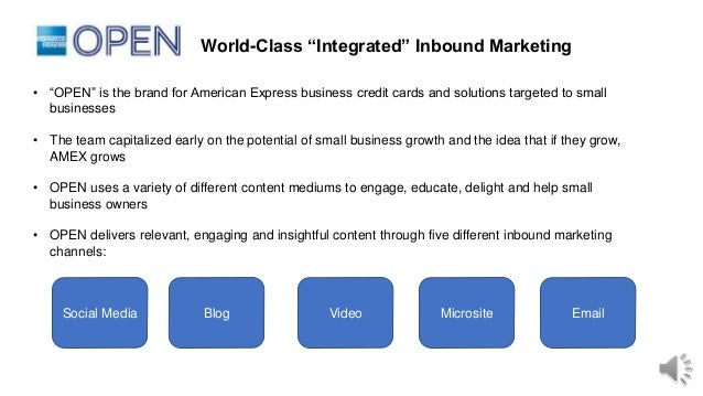 American express open world class inbound marketing reheart Image collections