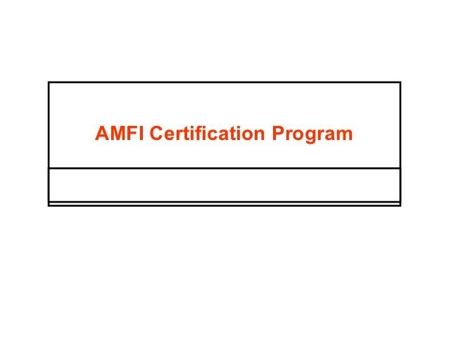 AMFI Certification Program