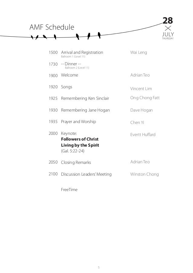 2016 AMF Program Booklet