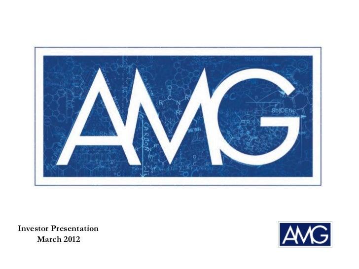 Investor Presentation     March 2012