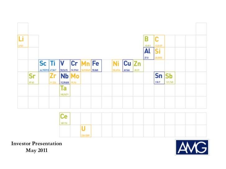 Investor Presentation      May 2011