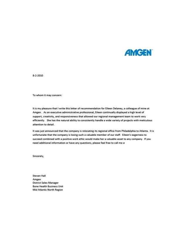 Amgen Recommendations