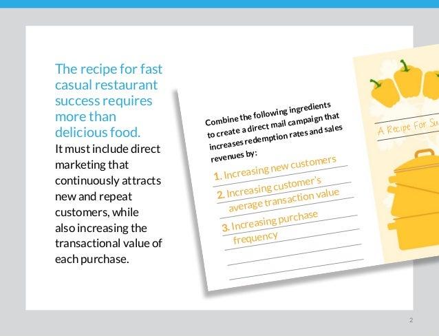 A RECIPE FOR SUCCESS - Fast Casual Marketing Slide 2