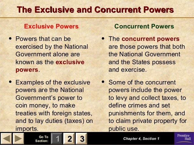 Quiz & worksheet exclusive powers of governments | study. Com.