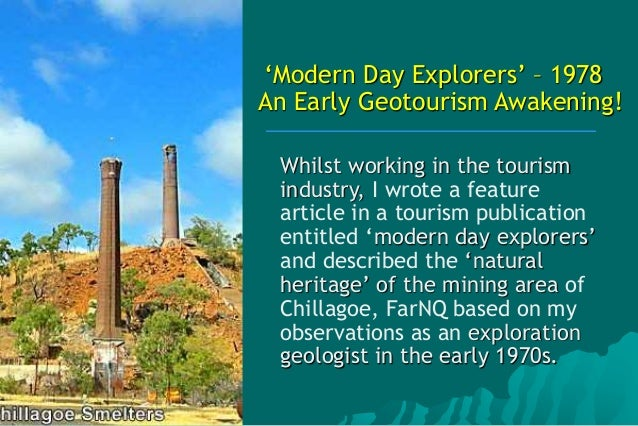 Geotourism, Mining and Mineral Heritage Slide 2