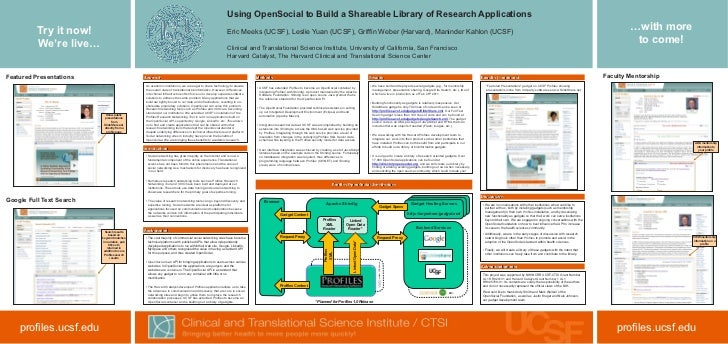 Using OpenSocial to Build a Shareable Library of Research Applications          Try it now!                               ...