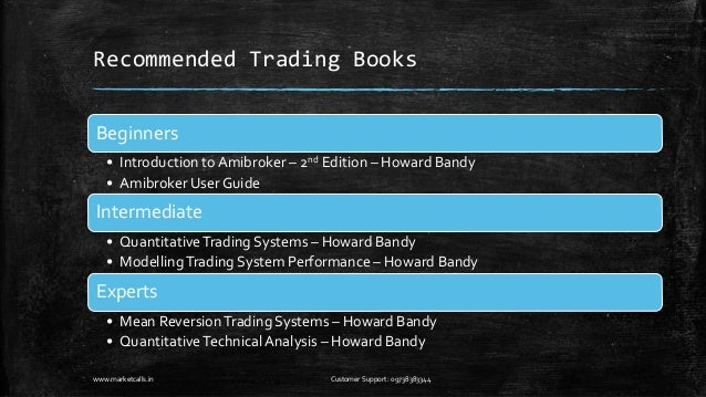 Modeling trading system performance howard bandy