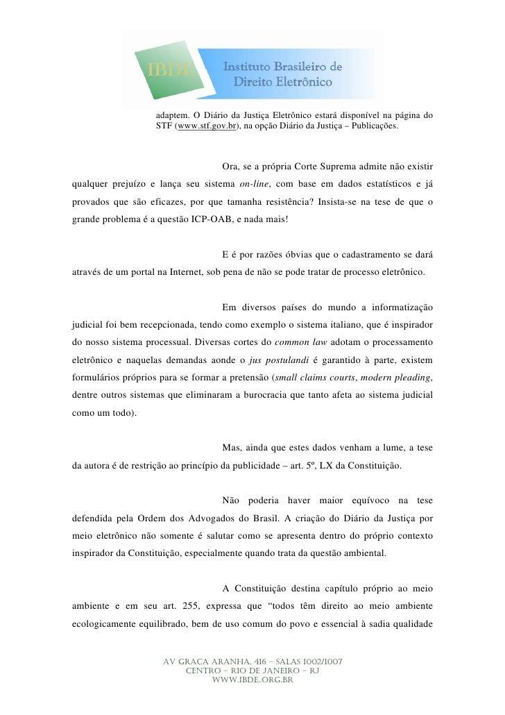 adaptem. O Diário da Justiça Eletrônico estará disponível na página do                      STF (www.stf.gov.br), na opção...