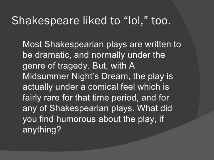 Male Dominance And Female Oppression in A Midsummer Night's Dream
