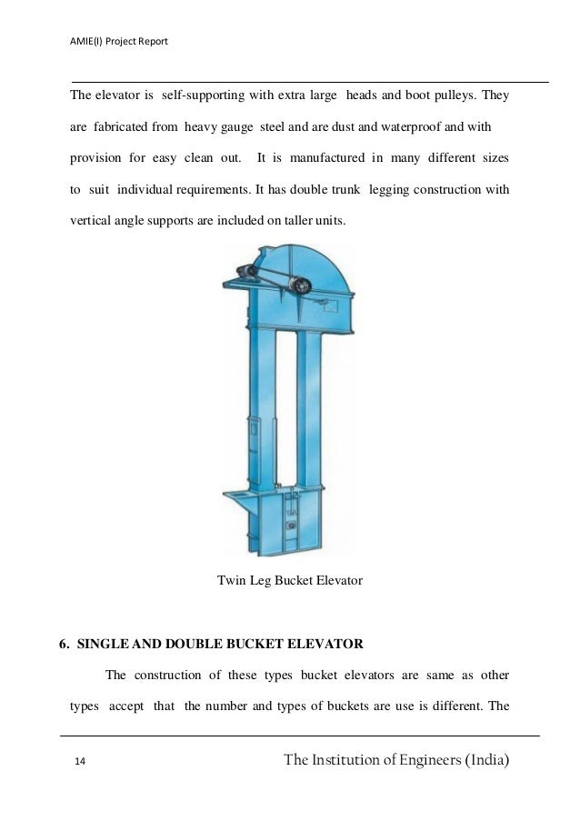 design of bucket elevator with auto belt tensioner unit rh slideshare net Bucket Elevator Components Bucket Conveyor