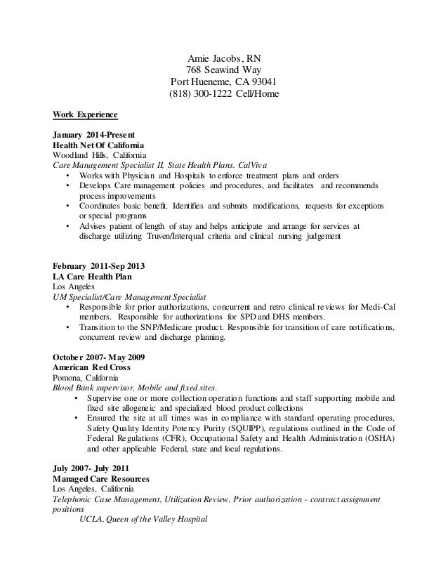 utilization review nurse resume